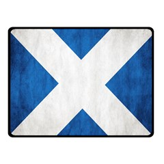 Scotland Flag Surface Texture Color Symbolism Fleece Blanket (small) by Simbadda