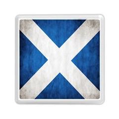 Scotland Flag Surface Texture Color Symbolism Memory Card Reader (square)  by Simbadda