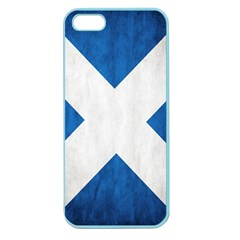 Scotland Flag Surface Texture Color Symbolism Apple Seamless Iphone 5 Case (color) by Simbadda