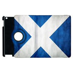 Scotland Flag Surface Texture Color Symbolism Apple Ipad 2 Flip 360 Case by Simbadda