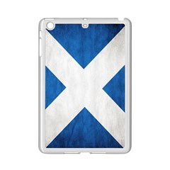 Scotland Flag Surface Texture Color Symbolism iPad Mini 2 Enamel Coated Cases by Simbadda