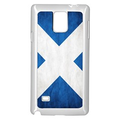 Scotland Flag Surface Texture Color Symbolism Samsung Galaxy Note 4 Case (white) by Simbadda