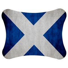 Scotland Flag Surface Texture Color Symbolism Jigsaw Puzzle Photo Stand (bow) by Simbadda
