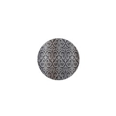 Patterns Wavy Background Texture Metal Silver 1  Mini Magnets by Simbadda
