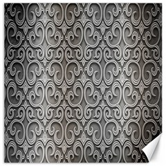 Patterns Wavy Background Texture Metal Silver Canvas 20  X 20   by Simbadda