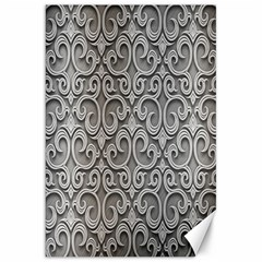 Patterns Wavy Background Texture Metal Silver Canvas 20  X 30   by Simbadda