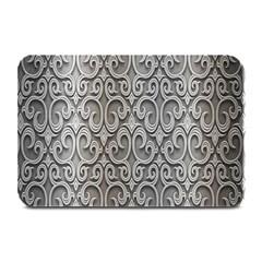 Patterns Wavy Background Texture Metal Silver Plate Mats by Simbadda