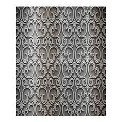Patterns Wavy Background Texture Metal Silver Shower Curtain 60  X 72  (medium)  by Simbadda
