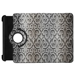 Patterns Wavy Background Texture Metal Silver Kindle Fire Hd 7  by Simbadda
