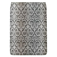 Patterns Wavy Background Texture Metal Silver Flap Covers (s)  by Simbadda