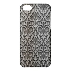 Patterns Wavy Background Texture Metal Silver Apple Iphone 5c Hardshell Case by Simbadda