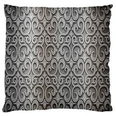 Patterns Wavy Background Texture Metal Silver Standard Flano Cushion Case (two Sides) by Simbadda
