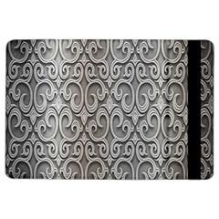 Patterns Wavy Background Texture Metal Silver Ipad Air 2 Flip by Simbadda