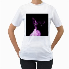 Pink Sphynx Cat Women s T Shirt (white) (two Sided) by Valentinaart