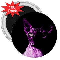 Pink Sphynx Cat 3  Magnets (100 Pack) by Valentinaart