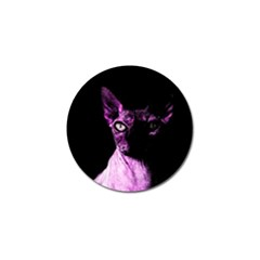 Pink Sphynx Cat Golf Ball Marker by Valentinaart