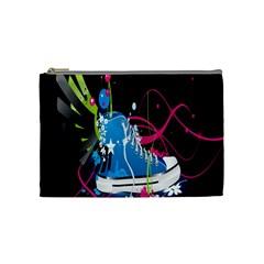 Sneakers Shoes Patterns Bright Cosmetic Bag (medium)  by Simbadda