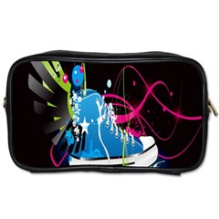 Sneakers Shoes Patterns Bright Toiletries Bags 2 Side by Simbadda