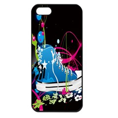 Sneakers Shoes Patterns Bright Apple Iphone 5 Seamless Case (black) by Simbadda