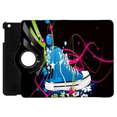 Sneakers Shoes Patterns Bright Apple Ipad Mini Flip 360 Case by Simbadda