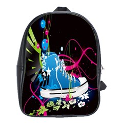 Sneakers Shoes Patterns Bright School Bags (xl)  by Simbadda