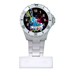 Sneakers Shoes Patterns Bright Plastic Nurses Watch by Simbadda