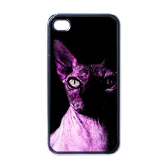 Pink Sphynx Cat Apple Iphone 4 Case (black) by Valentinaart