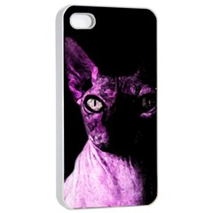 Pink Sphynx Cat Apple Iphone 4/4s Seamless Case (white) by Valentinaart