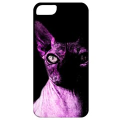 Pink Sphynx Cat Apple Iphone 5 Classic Hardshell Case by Valentinaart