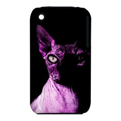 Pink Sphynx Cat Iphone 3s/3gs by Valentinaart