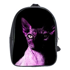 Pink Sphynx Cat School Bags (xl)  by Valentinaart