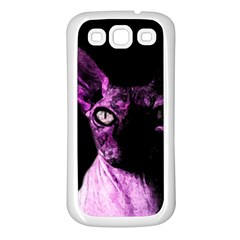 Pink Sphynx Cat Samsung Galaxy S3 Back Case (white) by Valentinaart