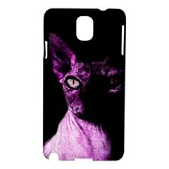 Pink Sphynx Cat Samsung Galaxy Note 3 N9005 Hardshell Case by Valentinaart