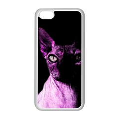 Pink Sphynx Cat Apple Iphone 5c Seamless Case (white) by Valentinaart