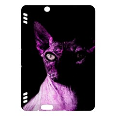 Pink Sphynx Cat Kindle Fire Hdx Hardshell Case by Valentinaart