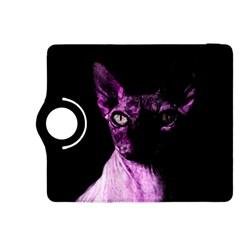 Pink Sphynx Cat Kindle Fire Hdx 8 9  Flip 360 Case by Valentinaart