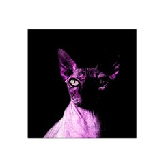 Pink Sphynx Cat Satin Bandana Scarf by Valentinaart