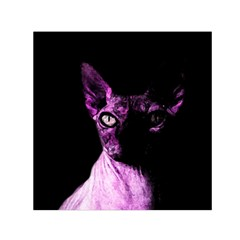 Pink Sphynx Cat Small Satin Scarf (square) by Valentinaart