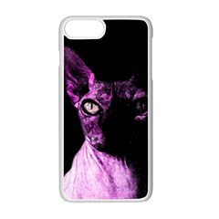 Pink Sphynx Cat Apple Iphone 7 Plus White Seamless Case by Valentinaart