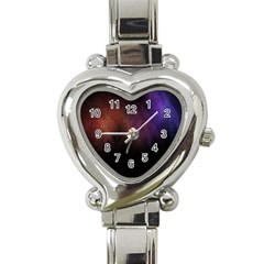 Point Light Luster Surface Heart Italian Charm Watch by Simbadda