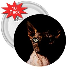 Sphynx Cat 3  Buttons (10 Pack)  by Valentinaart