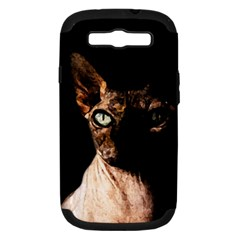 Sphynx Cat Samsung Galaxy S Iii Hardshell Case (pc+silicone) by Valentinaart