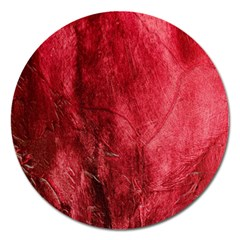 Red Background Texture Magnet 5  (round) by Simbadda