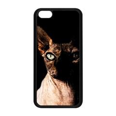 Sphynx Cat Apple Iphone 5c Seamless Case (black) by Valentinaart