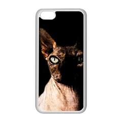 Sphynx Cat Apple Iphone 5c Seamless Case (white) by Valentinaart