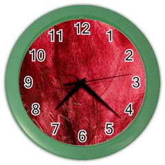 Red Background Texture Color Wall Clocks by Simbadda