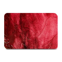 Red Background Texture Plate Mats by Simbadda