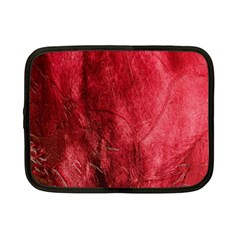Red Background Texture Netbook Case (Small)