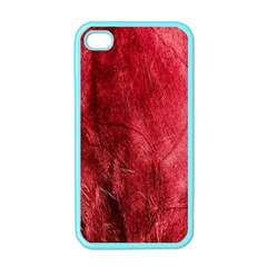 Red Background Texture Apple iPhone 4 Case (Color)