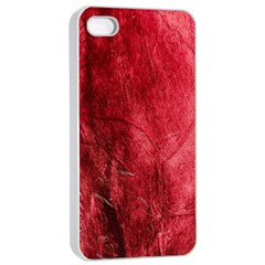 Red Background Texture Apple Iphone 4/4s Seamless Case (white) by Simbadda